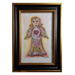 Engel Gemälde Herz Hoffnung Schmetterling