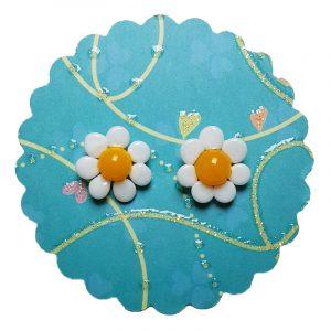 Ohrstecker Gänseblümchen Blume Sommer Schmuck